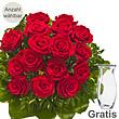 Rote Rosen als Strauß