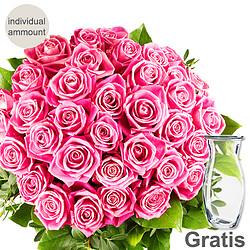Individual pink roses