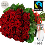 Bunch of red FAIRTRADE roses