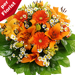 Flower Bouquet Orange