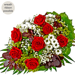 Sympathy Bouquet with red roses