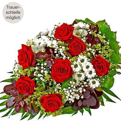 19bb6e29b66278 Liegestrauß mit roten Rosen - Trauer - Blumen online verschicken auf ...