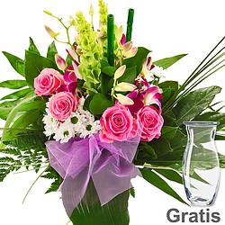 Blumenstrauß Diamant mit Vase