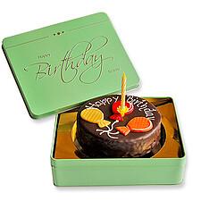 Sachertorte Happy Birthday mit Kerze
