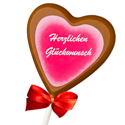 """Chocolate Lolly """"Herzlichen Glückwunsch"""""""
