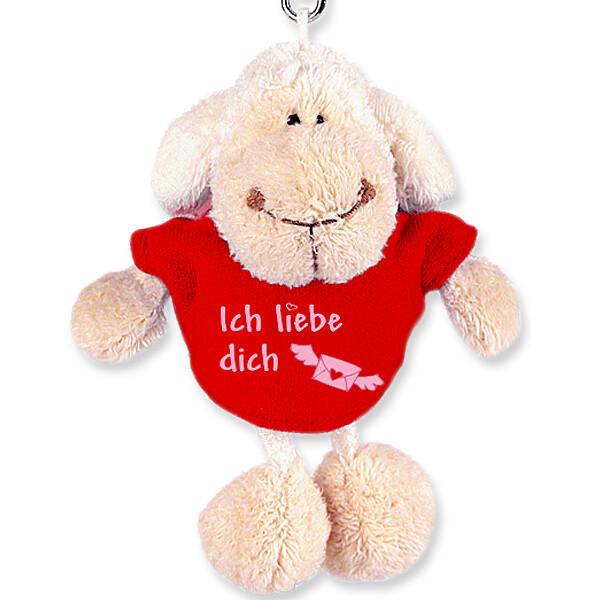 """Schlüsselanhänger Schaf """"Ich liebe Dich"""" (10cm)"""