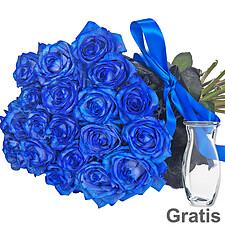 Blaue Rosen im Bund