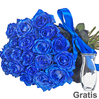 Bunch of blue roses