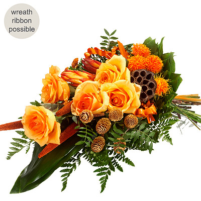 Sympathy Bouquet in orange