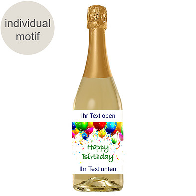German Riesling sparkling wine with image / text (0.75l)