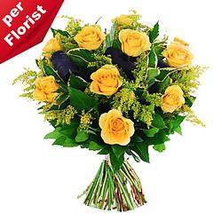 Gelber Rosenstrauß