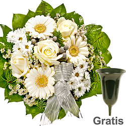 Sympathy Bouquet in white