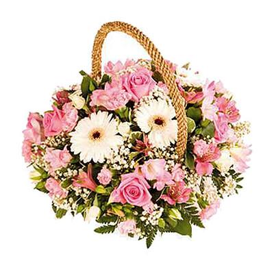 Blumenarrangement Rosé