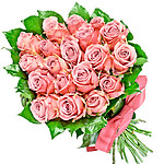 24 pink roses bouquet