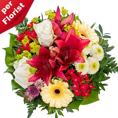 Blumenstrauß von Herzen