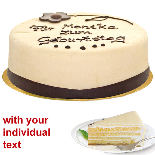 Lübecker Dessert Marzipan Cake with Individual Text