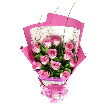 Pinker Rosenstrauß