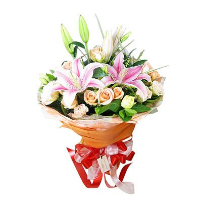 Blumenstrauß Seidenglanz