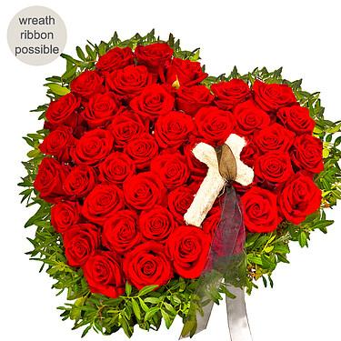 Sympathy Rose Heart
