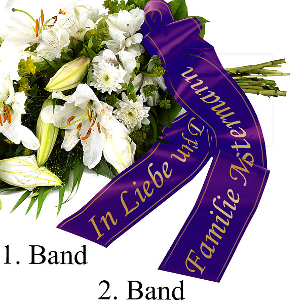 Wreath Ribbon Lilac with 2 ribbons