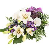 Trauergesteck mit Chrysanthemen