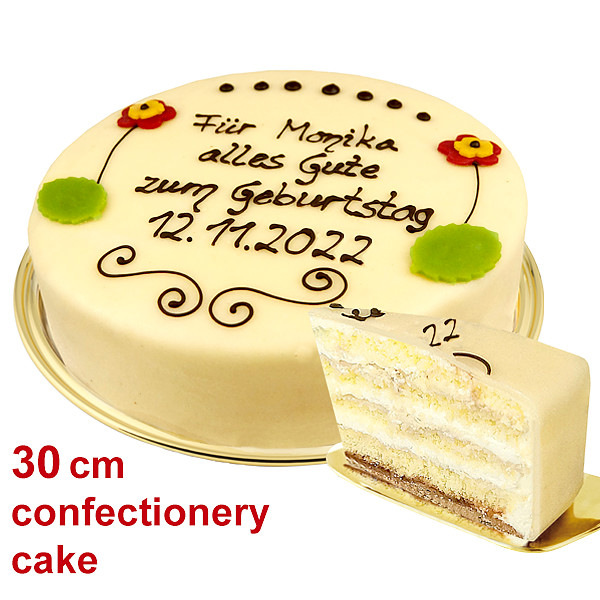 Large Lübecker Marzipan Cake with Individual Text