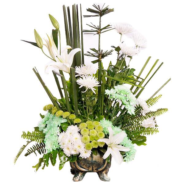 Blumenarrangement Weiße Eleganz