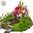 Trauerkranz mit rosa Lilien