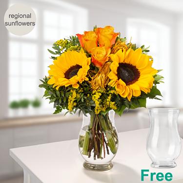 Flower Bouquet Vincent with vase