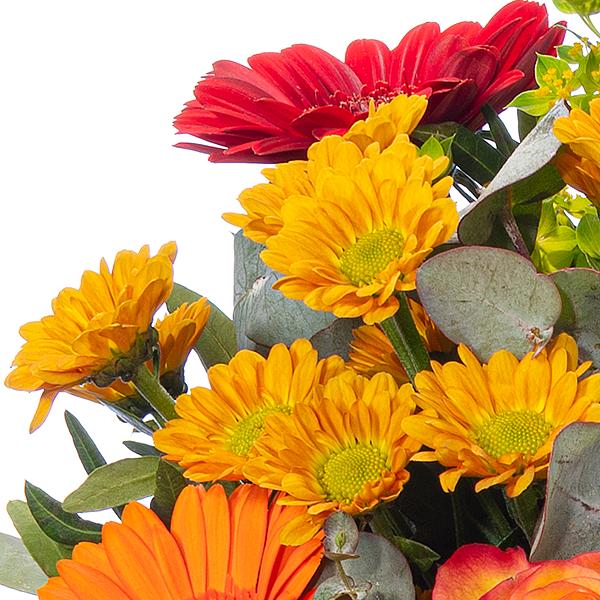 Blumenstrauß Herbstsymphonie mit Vase & Rotkäppchen Sekt