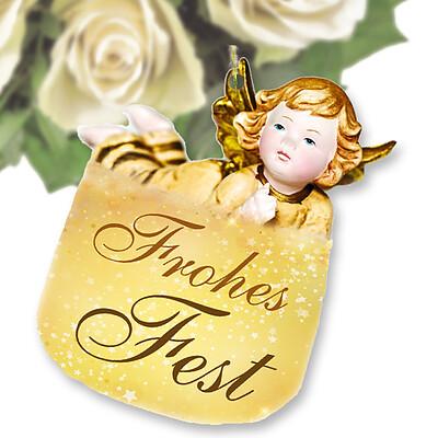 Flowercard Weihnachtsengel