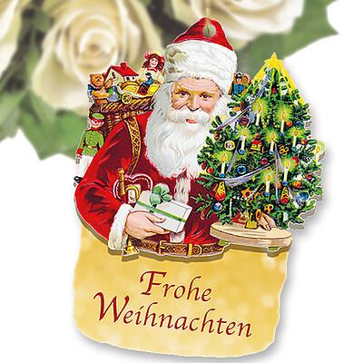 Flowercard Weihnachtsmann