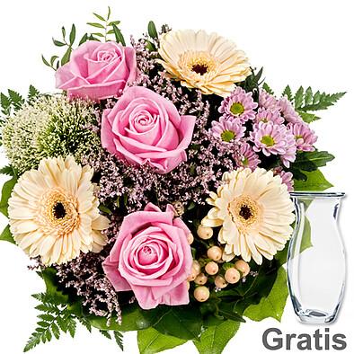 Blumenstrauß Ballade mit Vase