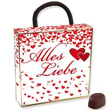"""Schoko-Tasche """"Alles Liebe"""""""