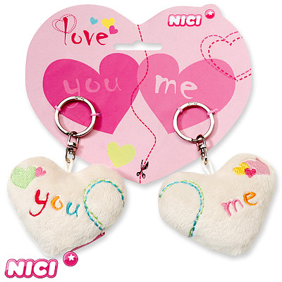 Schlüsselanhänger Herzen You & Me