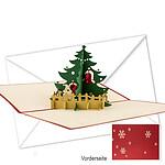 Kirigami-Klappkarte Weihnachten
