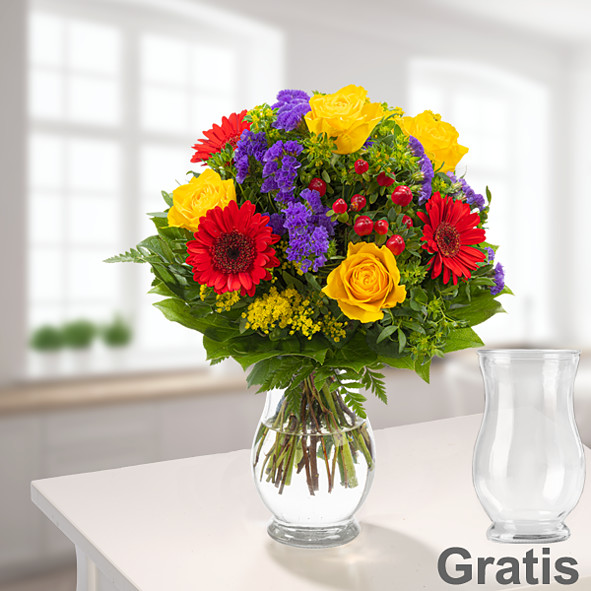 Blumenstrauß Blütenfee mit Vase