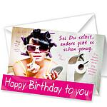"""Aufstellkarte """"Happy Birthday to you"""""""