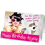 "Aufstellkarte ""Happy Birthday to you"""