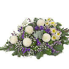 Sympathy Arrangement with chrysanthemums