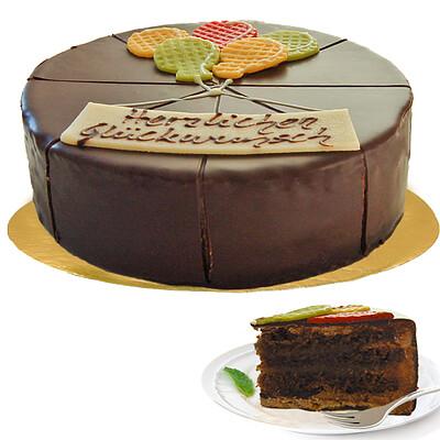 """Dessert-Torte """"Herzlichen Glückwunsch"""""""