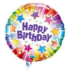 "Folienballon Stecker ""Happy Birthday"""