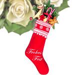 Flowercard Weihnachtssocke