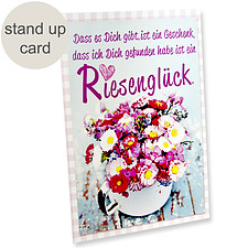"""Stand up card """"Riesenglück"""""""
