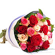 24 mixed coloured roses