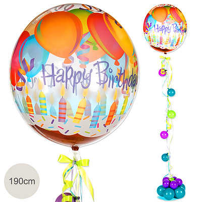 Giant Balloon Happy Birthday 190cm