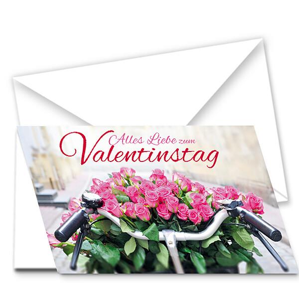 """Motivkarte """"Alles Liebe zum Valentinstag"""" quer"""