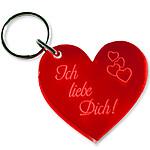 """Schlüsselanhänger Herz """"Ich liebe Dich!"""""""