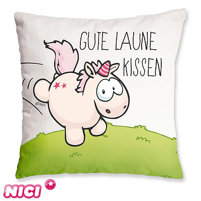 """Kuschelkissen Einhorn """"Gute Laune Kissen"""""""