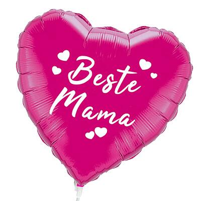 """Folienballon Stecker Herz """"Beste Mama"""""""